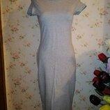 Трикотажное облегающее платье футболка миди от бренда atmosphere 12 размер.