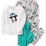 Трикотажная пижама для девочки 4Т Carters