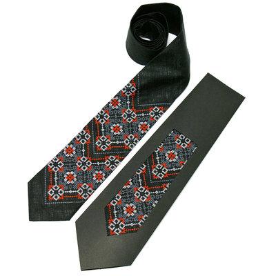 Вишита краватка з льону