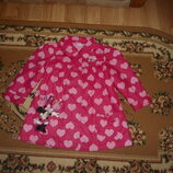 Демисезонное пальто плащ Disney на 2-3 роки 98 см с минни маус