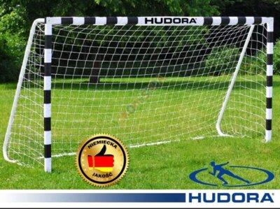 Ворота футбольные Hudora 300x200x90cm сетка Германия. М.