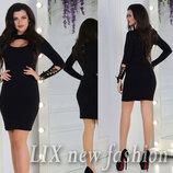 платье размер универсал ткань джерси цвет бутылка,черный,красный
