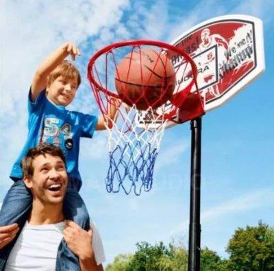 Баскетбольное кольцо на стойке Hudora 165-205 см Германия. М.