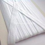 Бейка-Резинка простая,цвет белый,2 см-1 м