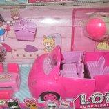 Машина для кукол LOL и две куколки