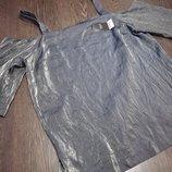 Блуза -туника серебристая 20 размер евро