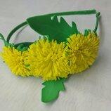 Обруч одуванчик, кульбаба, заколка, цветы из фоамирана