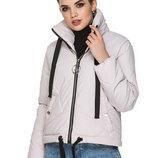 Коротка демисезонная женская куртка с воротником-стойкой Размеры 44,46,48,50,52,54. Материал пло