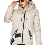 Демисезонная женская стеганная куртка .Р-РЫ 44, 46, 48, 50, 52 И 54 Ультрамодная парка прямого