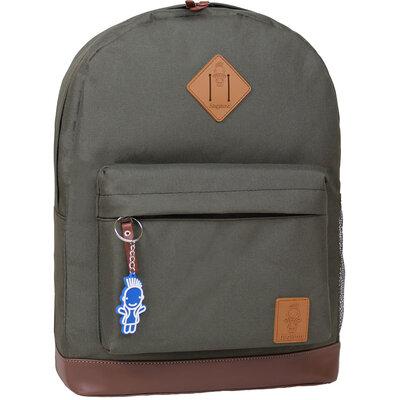 Рюкзак городской Bagland Молодежный 17 л хаки с кожаным дном мужской женский