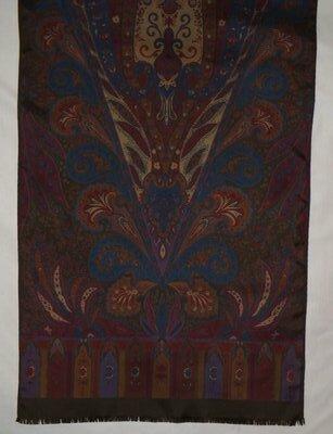 Мужской шарф,винтаж, шёлк, 48х158