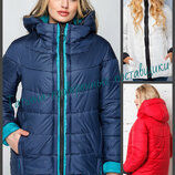 44-56 Куртка женская демисезонная с капюшоном, Женская куртка демисезонная. женская куртка