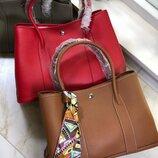 Женская кожаная сумка Hermès Garden Party