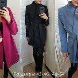 Пальто Ткань качественный кашемир, с подкладкой Пальто на запах, под пояс