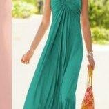 Мятное платье сарафан бирюзовые