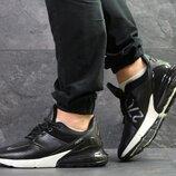 Nike Air Max 270 кроссовки мужские демисезонные черные с серым 7258
