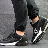 Nike Air Max 270 кроссовки мужские демисезонные черные с белым 7260