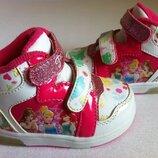 Стильные кроссовки сникерсы, хай-топы Disney Princess