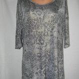 Новая трикотажная блуза с актуальным принтом 14p