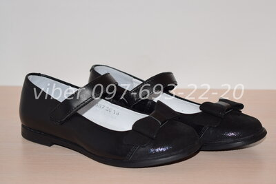 41548371b Туфли кожаные школьные Мальви на девочку Ш-321А р.30-36 туфлі шкільні