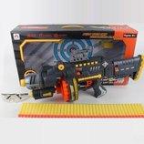Пневматический пулемет игрушечный на батарейках с мягкими пулями 1630683