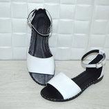 Босоножки натур кожа,натур замша белые,черные 36-43р все цвета индивидуальный пошив