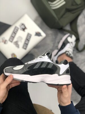 Мужские серые кроссовки adidas yung 1
