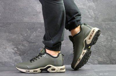 Nike Air Max TN кроссовки мужские демисезонные темно зеленые 7269