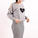 Блуза трикотажная, женская S M L XL XXL
