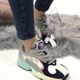 Женские разноцветные кроссовки adidas yung 1