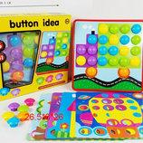 Мозаика с крупными фишками Button idea 6 картин 41 деталь M9B QML