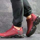Nike Air Max TN кроссовки мужские демисезонные бордовые 7270