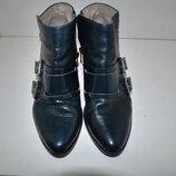 ботинки кожаные синие SOL SANA австралийский бренд 38 25 см ботночки