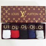 трусы мужские, боксеры, подарочный набор Трусы Louis Vuitton набор 5 шт