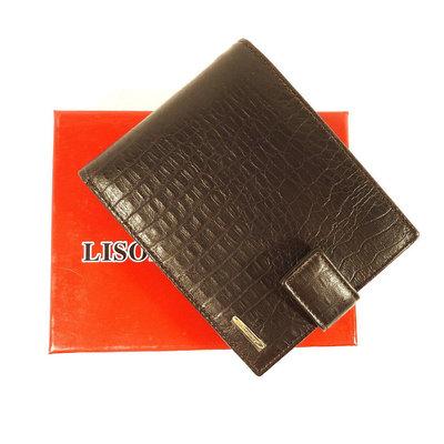 Кошелек кожаный мужской черный Lison Kaoberg 35009