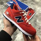 Красные оригинальные женские кроссовки new balance