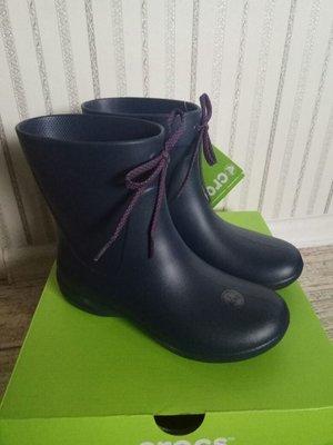 Crocs Rain Boots Резиновые сапоги Крокс оригинал синие короткие 34 - 35 размер