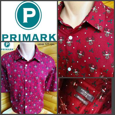 Рубашка с коротким рукавом от Primark, оригинал, р. XXL, пр-во Индия