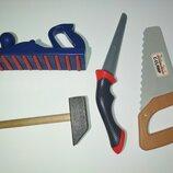 Набор инструментов.Пила пилка молоток инструмент инструменты игрушечный игрушка для мальчика