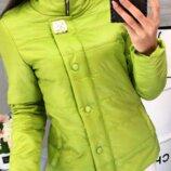 Женская демисезонная куртка арт 211/2кх цвет зеленое яблоко