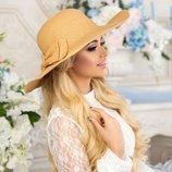 Соломенная шляпа с широкими полями Алекса