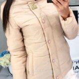 Женская демисезонная куртка арт 211/2кх цвет беж