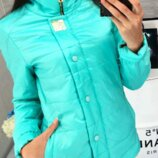 Женская демисезонная куртка арт 211/2кх цвет бирюза