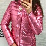 Женская демисезонная куртка арт 211/2кх цвет розовый