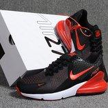 Как Оригинал. Бесплатная доставка. Кроссовки Nike Air Max Flair 270 черно-красные KS 886
