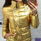 Женская демисезонная куртка арт 211/2кх цвет золото