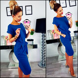 Свободное платье цвета электрик Rita Код 180