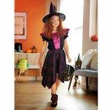 Карнавальный костюм платье Фея 7-10лет, Ведьмочка Хэллоуин Halloween