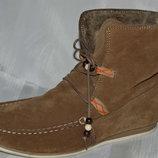 Ботинки замш черевики розмыр 41 42, ботінки черевики