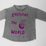Zara. Тонкий реглан серый 86 размер на 12-18 месяцев.